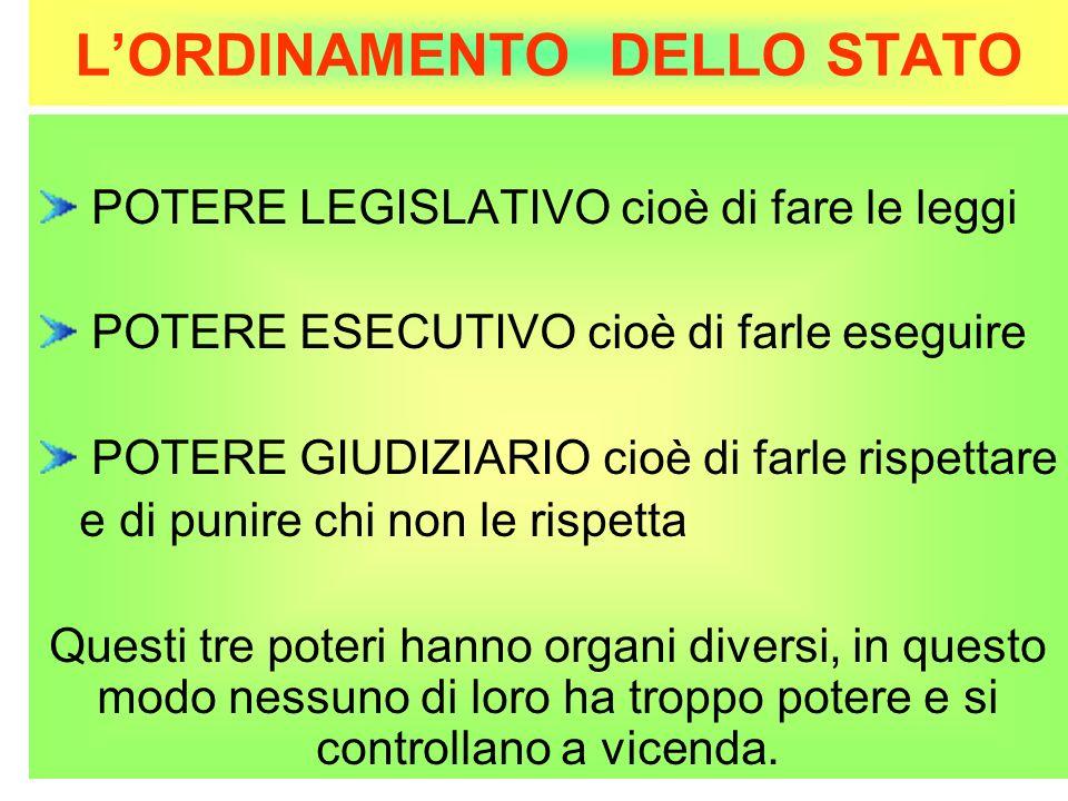 L'ORDINAMENTO DELLO STATO