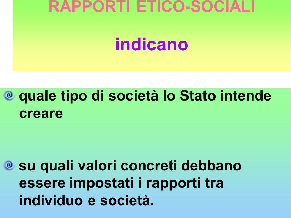 RAPPORTI ETICO-SOCIALI indicano