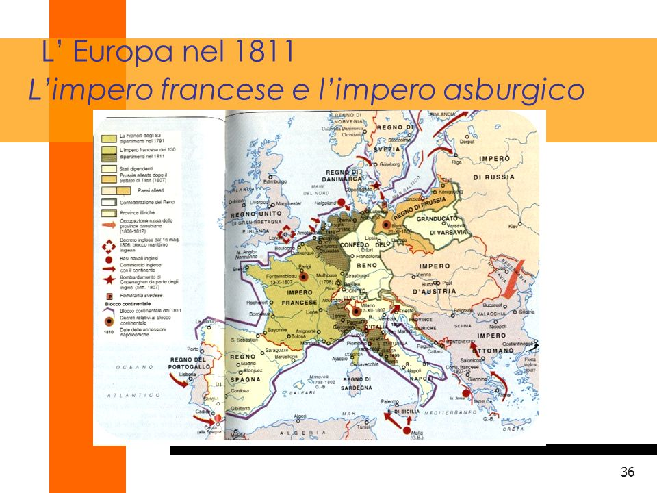 L' Europa nel 1811 L'impero francese e l'impero asburgico