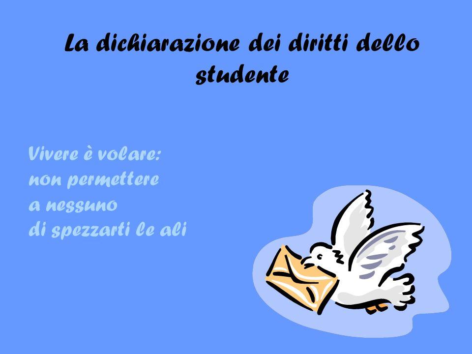 La dichiarazione dei diritti dello studente