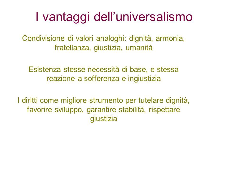 I vantaggi dell'universalismo