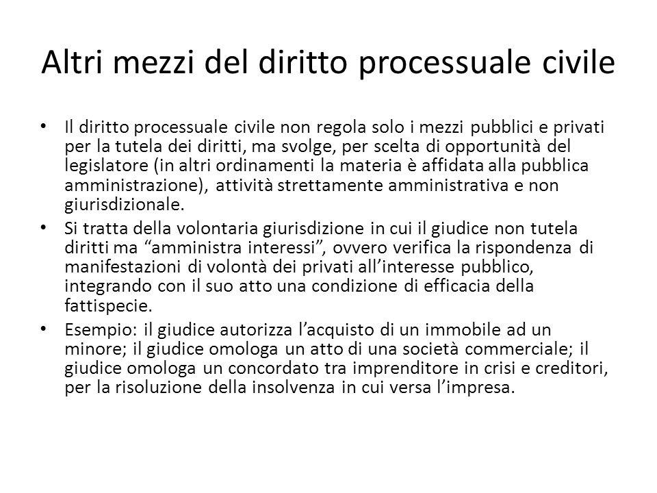 Altri mezzi del diritto processuale civile