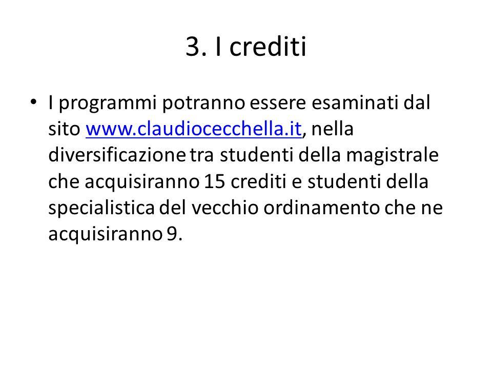 3. I crediti