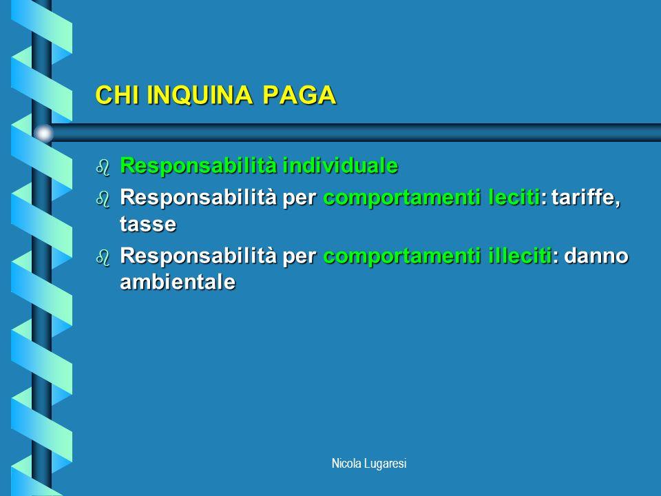 CHI INQUINA PAGA Responsabilità individuale