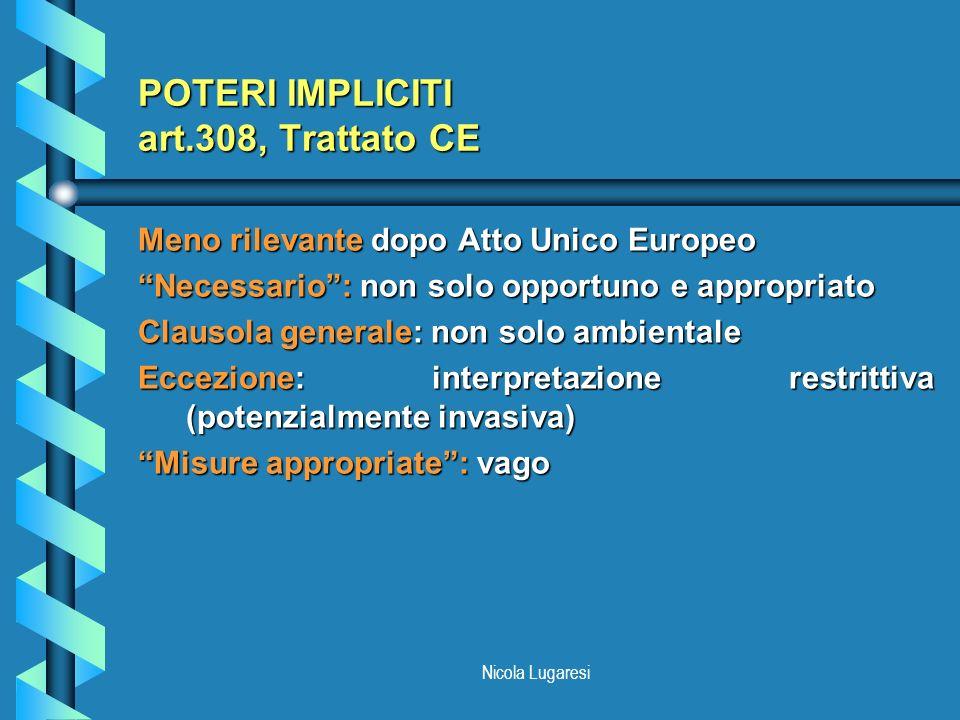 POTERI IMPLICITI art.308, Trattato CE