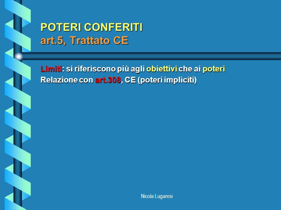 POTERI CONFERITI art.5, Trattato CE