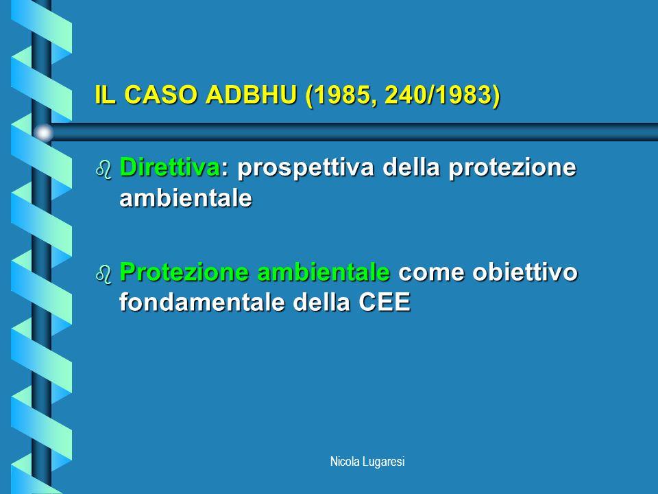 Direttiva: prospettiva della protezione ambientale