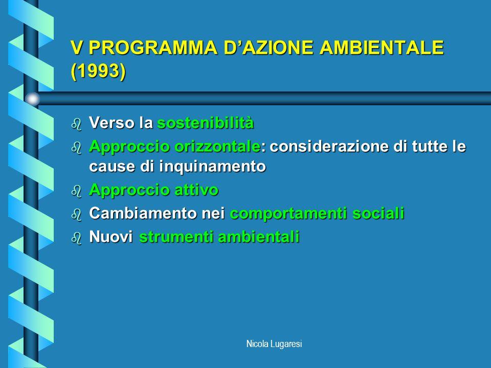 V PROGRAMMA D'AZIONE AMBIENTALE (1993)