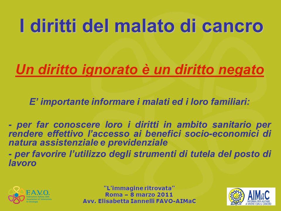 I diritti del malato di cancro