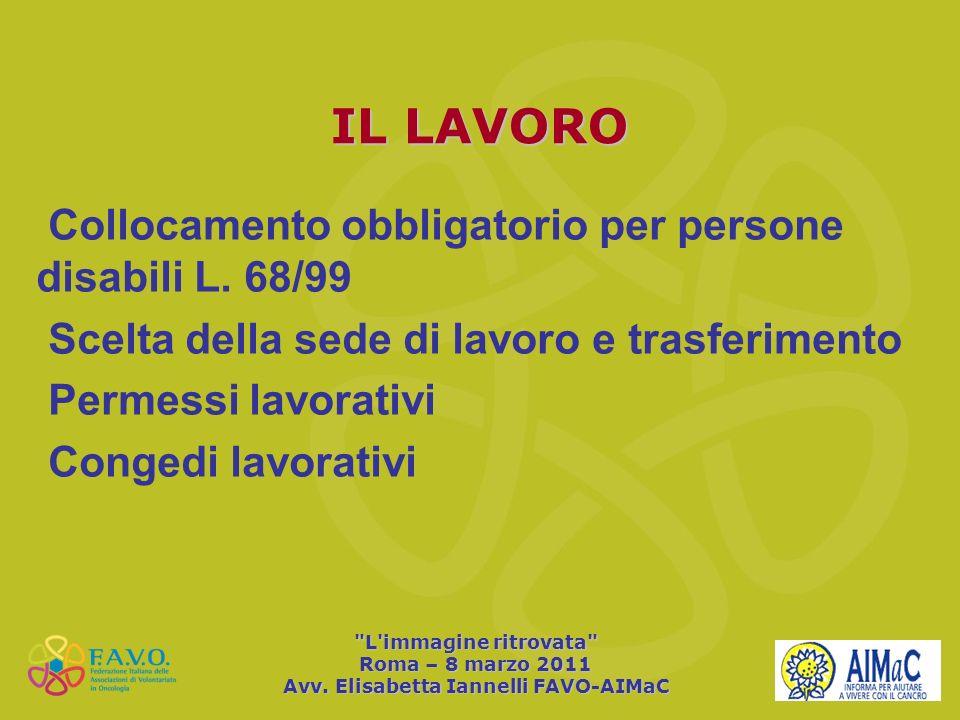 Avv. Elisabetta Iannelli FAVO-AIMaC