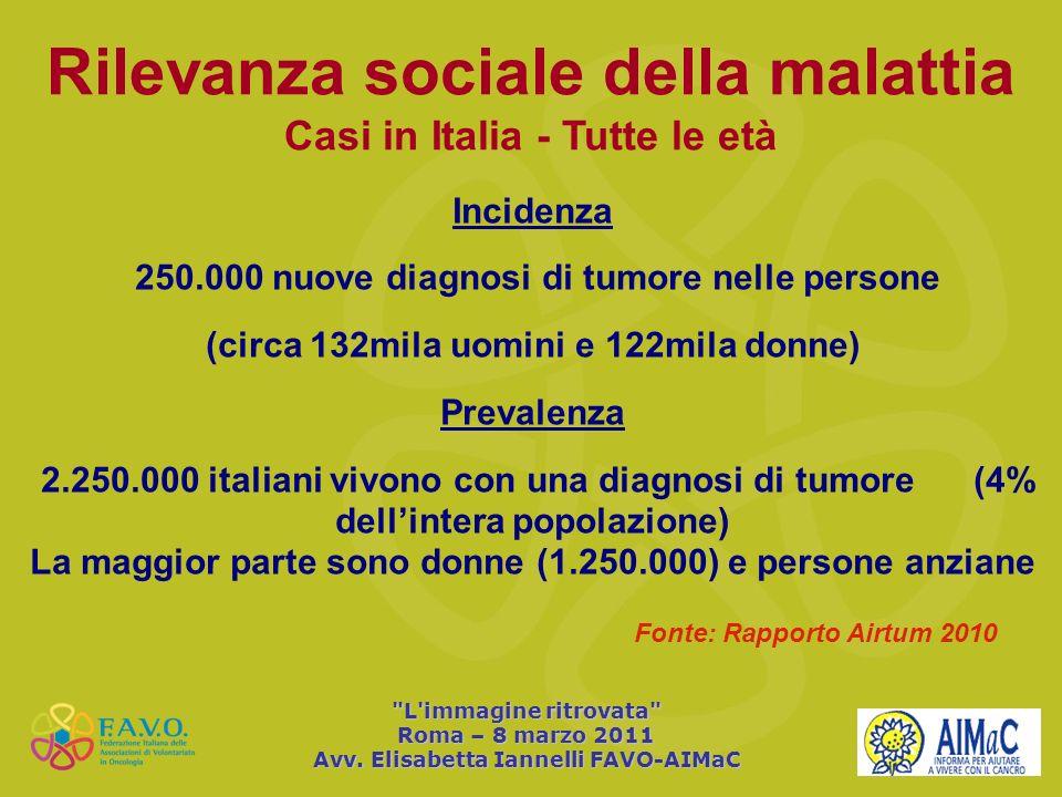 Rilevanza sociale della malattia