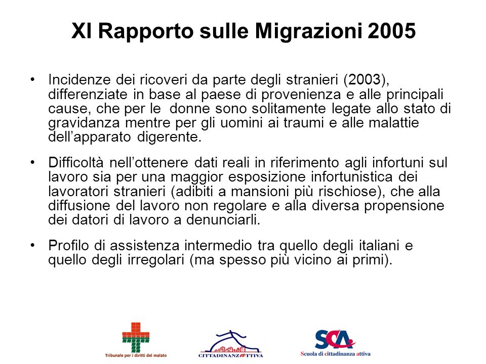 XI Rapporto sulle Migrazioni 2005