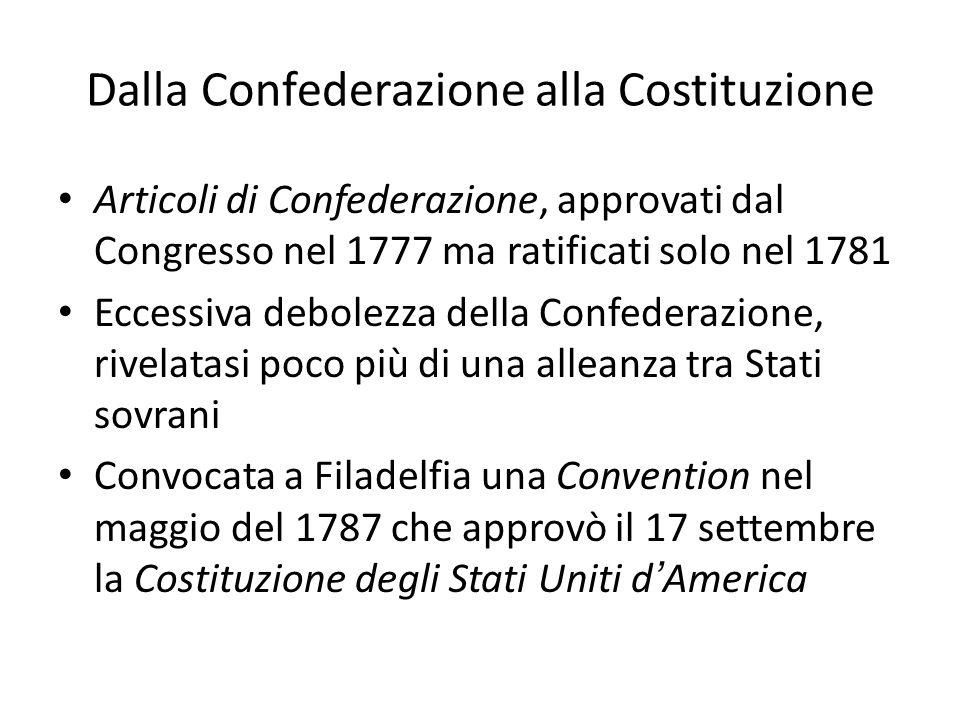Dalla Confederazione alla Costituzione
