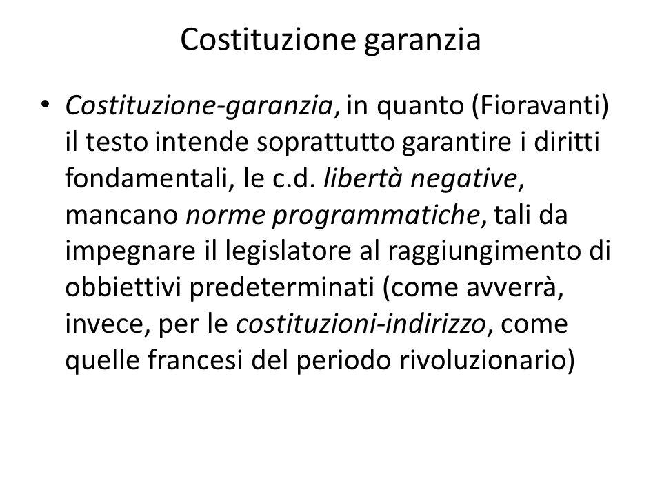 Costituzione garanzia