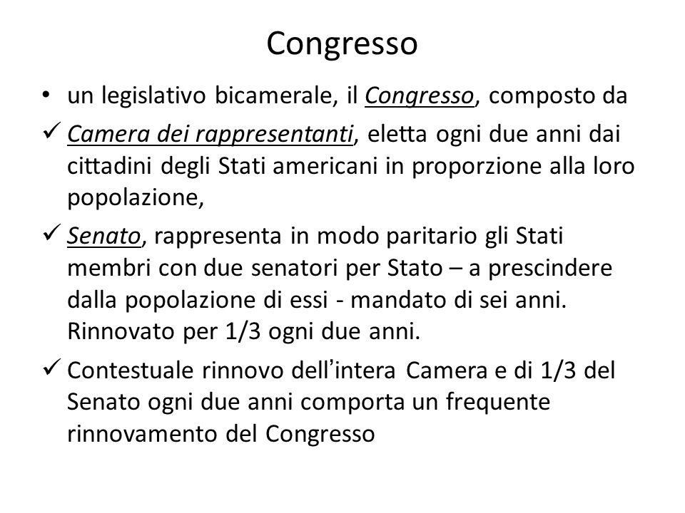 Congresso un legislativo bicamerale, il Congresso, composto da