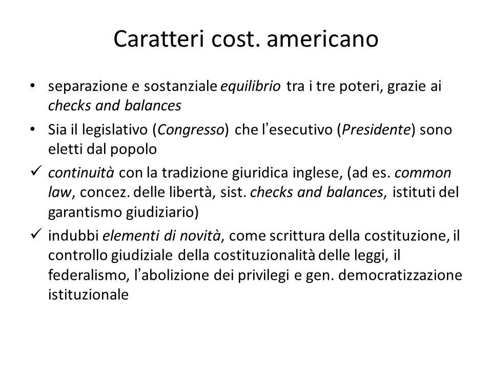 Caratteri cost. americano