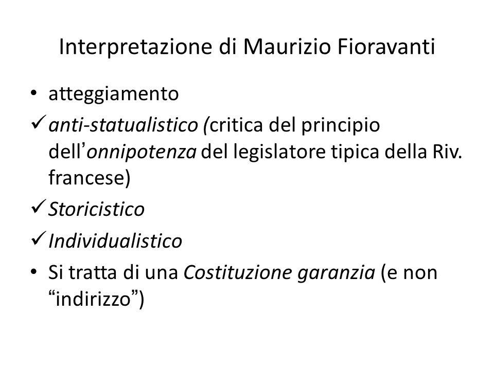 Interpretazione di Maurizio Fioravanti
