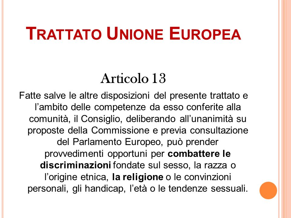 Trattato Unione Europea