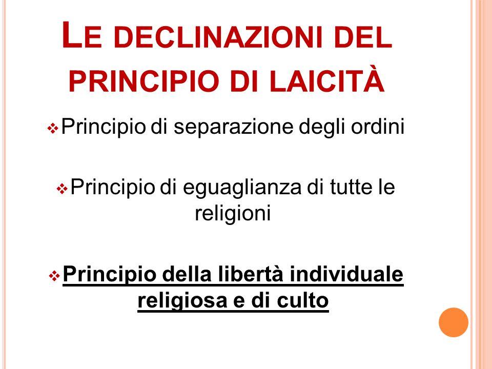 Le declinazioni del principio di laicità