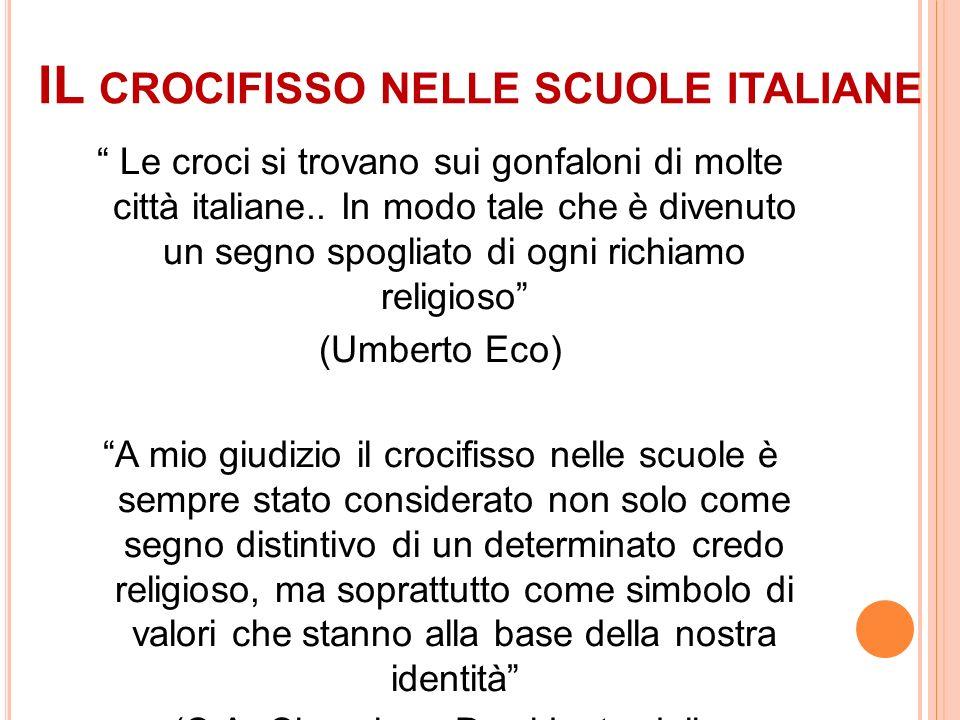 IL crocifisso nelle scuole italiane