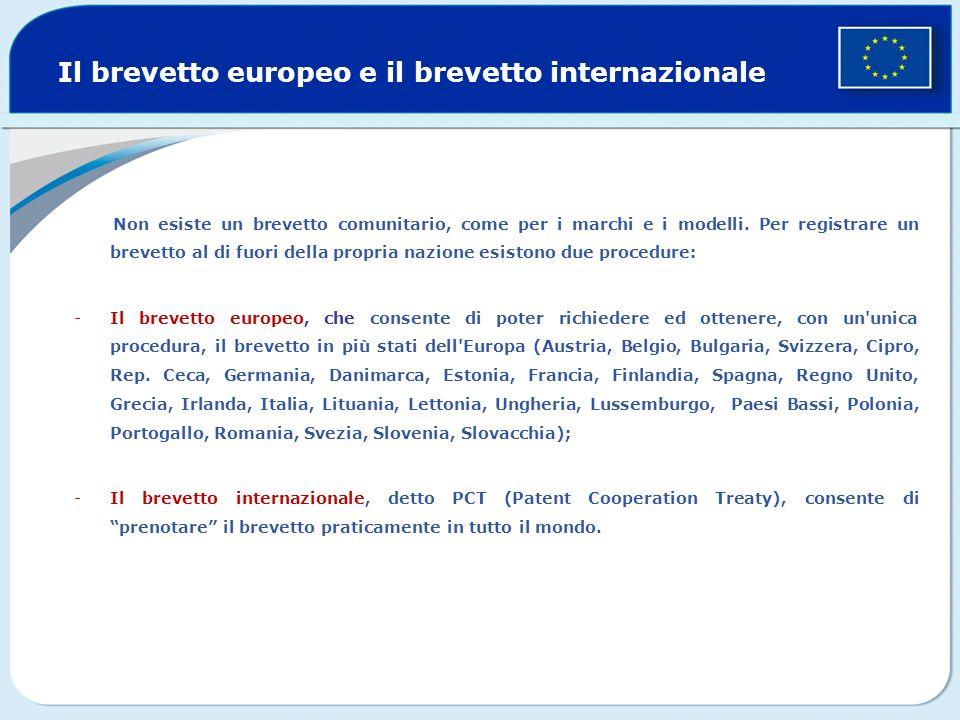 Il brevetto europeo e il brevetto internazionale