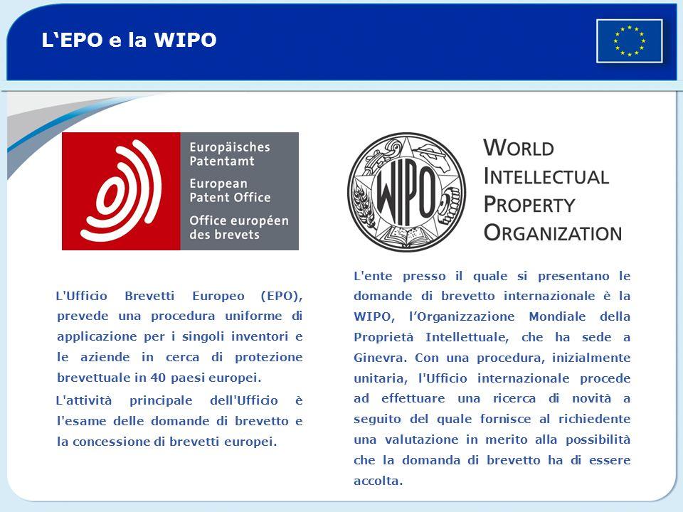 L'EPO e la WIPO