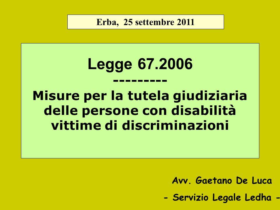 - Servizio Legale Ledha -