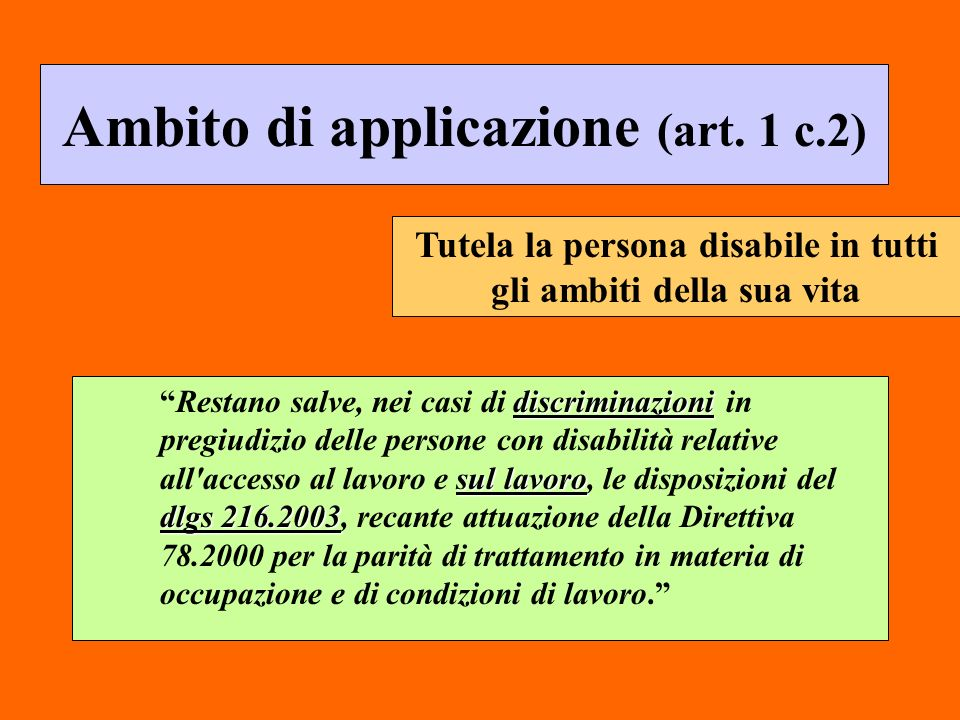 Ambito di applicazione (art. 1 c.2)