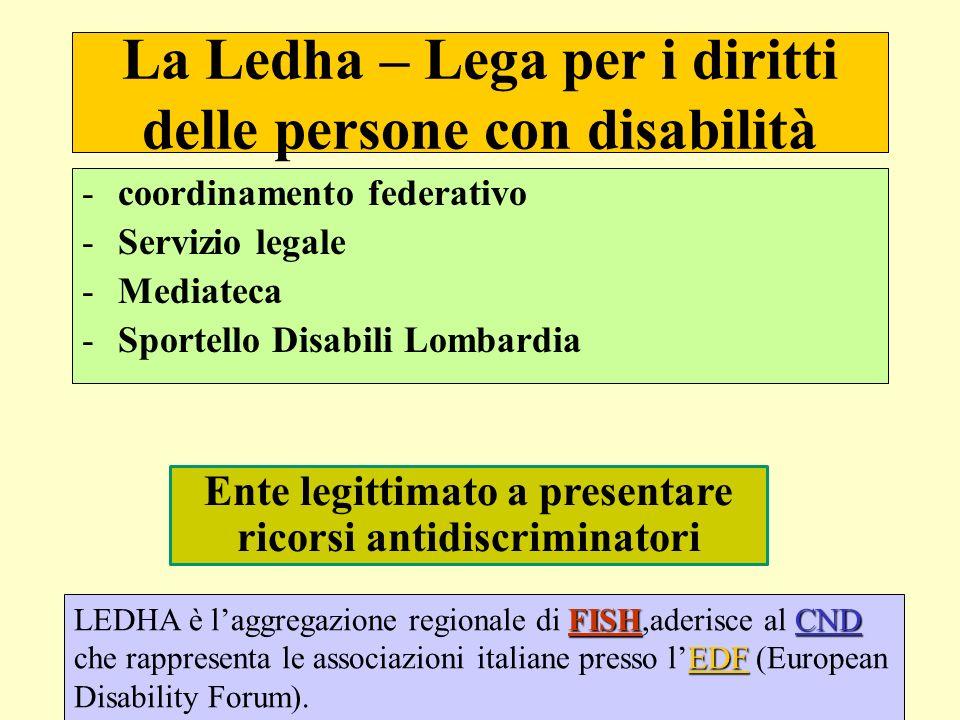 La Ledha – Lega per i diritti delle persone con disabilità