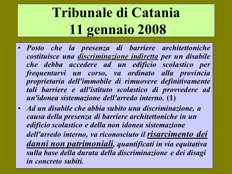 Tribunale di Catania 11 gennaio 2008