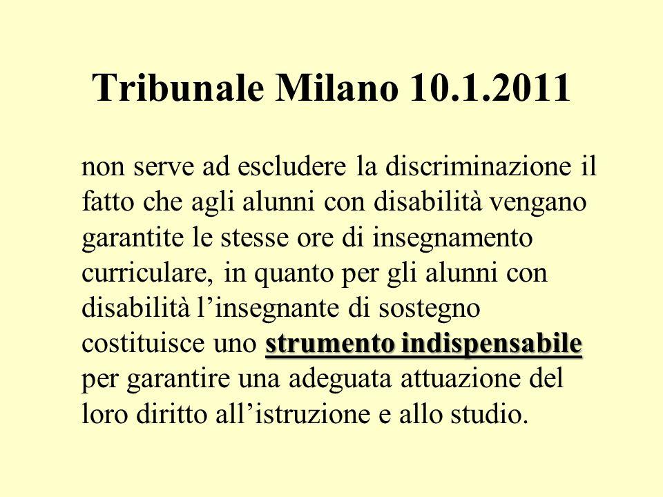 Tribunale Milano 10.1.2011