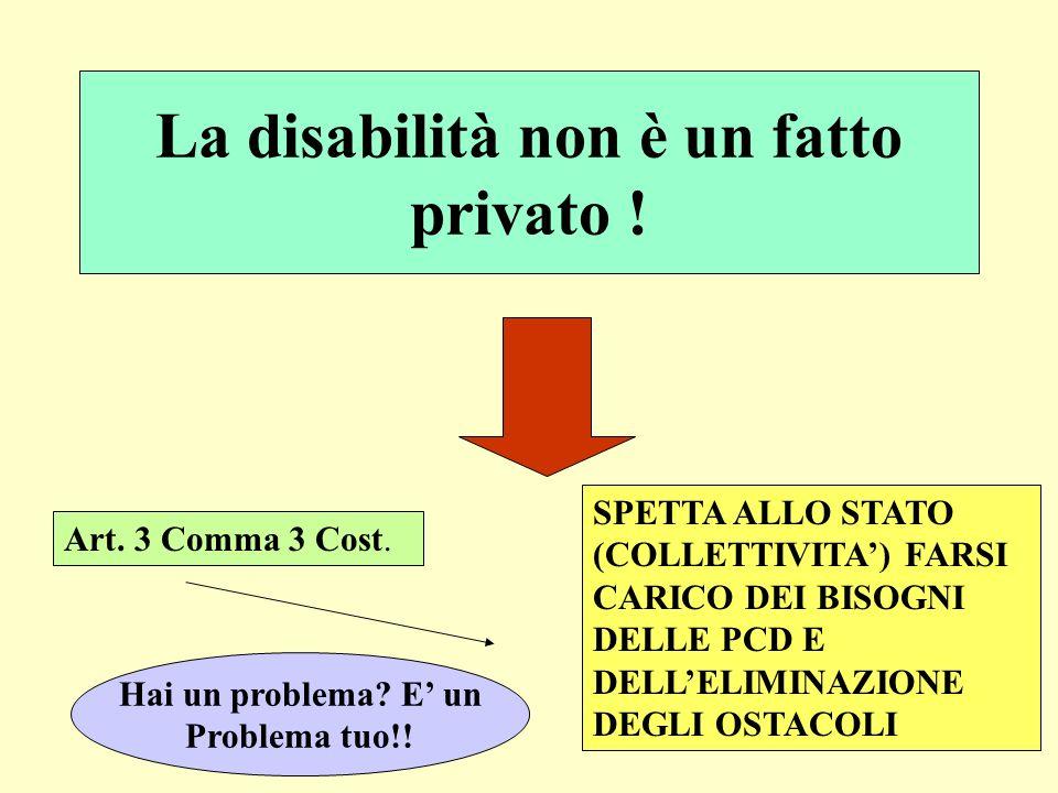 La disabilità non è un fatto privato !