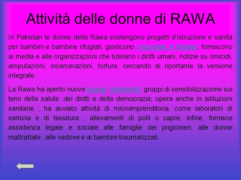 Attività delle donne di RAWA