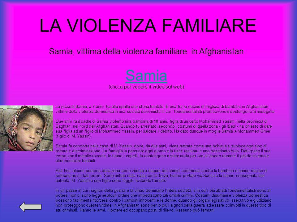 LA VIOLENZA FAMILIARE Samia