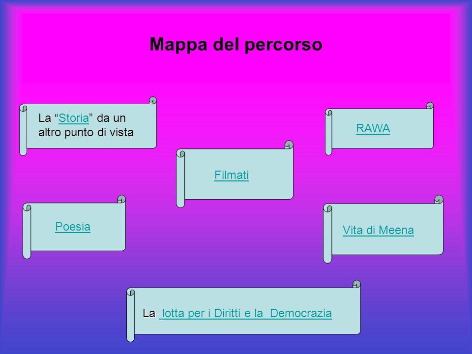 Mappa del percorso La Storia da un altro punto di vista RAWA Filmati