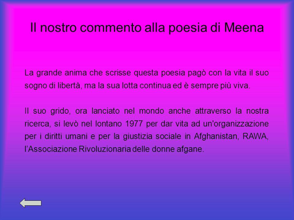 Il nostro commento alla poesia di Meena