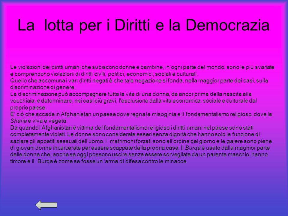 La lotta per i Diritti e la Democrazia