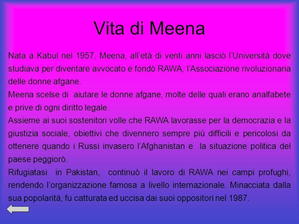 Vita di Meena