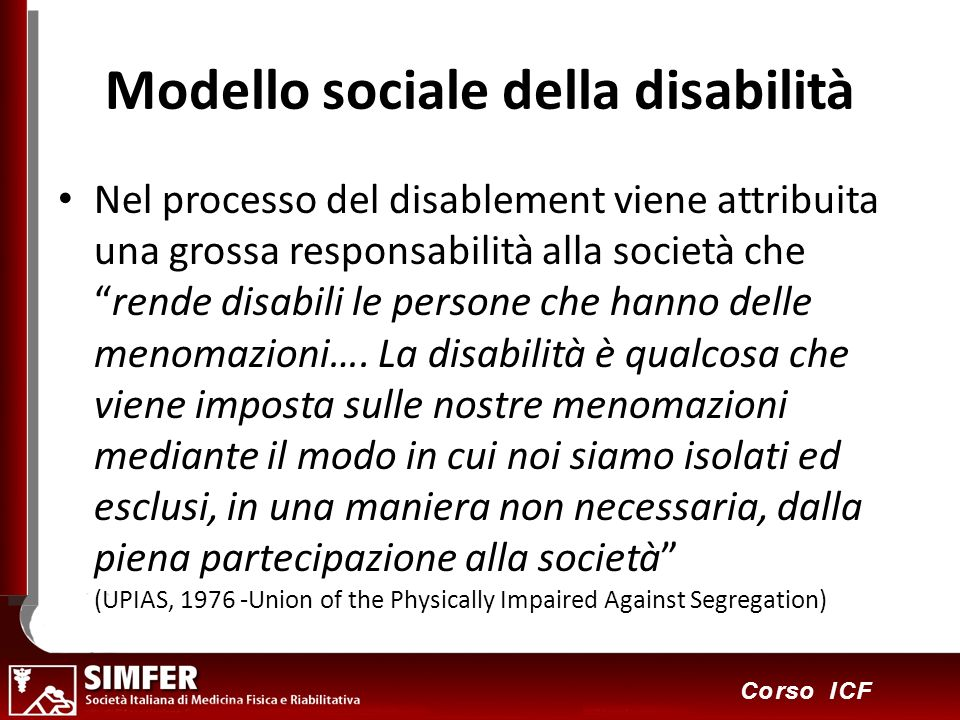 Modello sociale della disabilità
