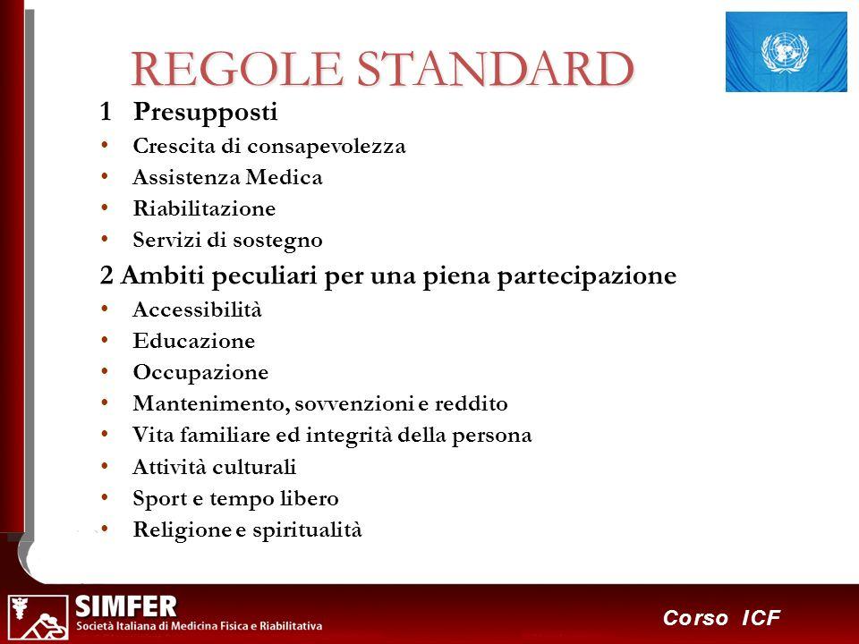 REGOLE STANDARD 1 Presupposti