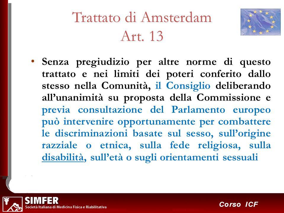 Trattato di Amsterdam Art. 13