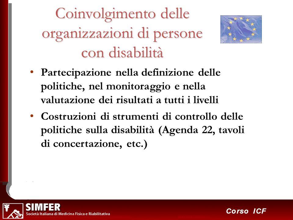 Coinvolgimento delle organizzazioni di persone con disabilità