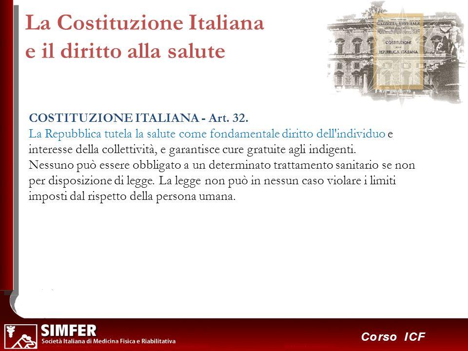 La Costituzione Italiana e il diritto alla salute