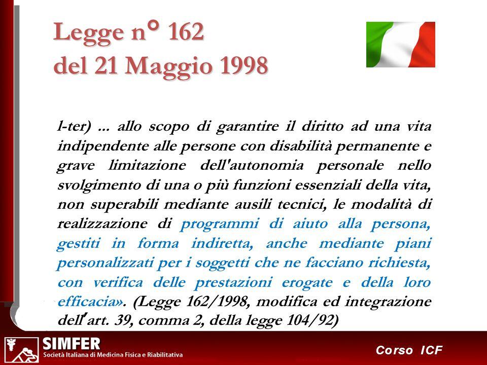 Legge n° 162 del 21 Maggio 1998