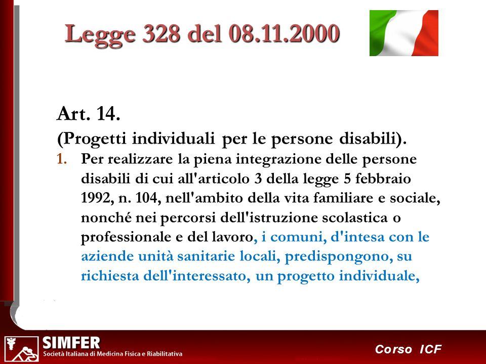 Legge 328 del 08.11.2000 Art. 14. (Progetti individuali per le persone disabili).