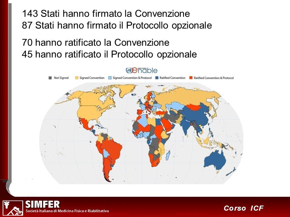 143 Stati hanno firmato la Convenzione 87 Stati hanno firmato il Protocollo opzionale
