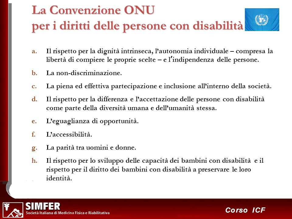 La Convenzione ONU per i diritti delle persone con disabilità
