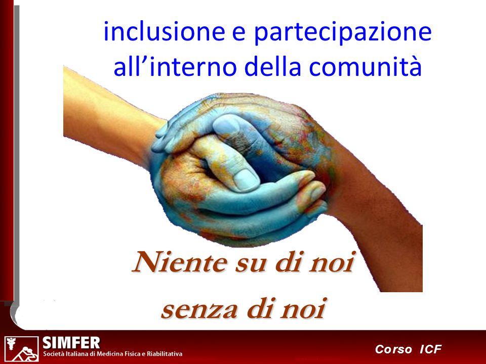 inclusione e partecipazione all'interno della comunità