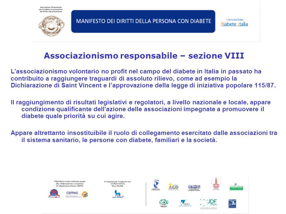 Associazionismo responsabile – sezione VIII