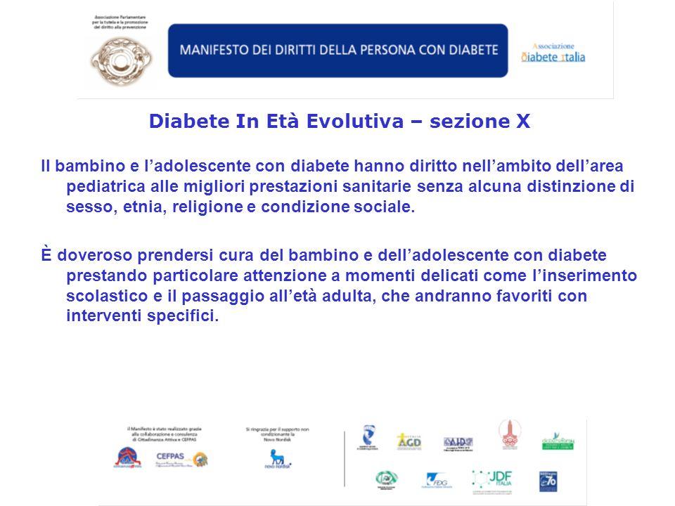 Diabete In Età Evolutiva – sezione X